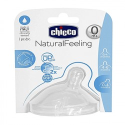 Chicco Natural Feel Teat 0m+ Slow Flow 1 Pc