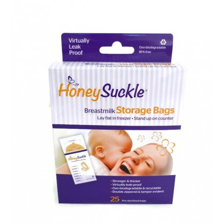 Honeysuckle Breastmilk Storage Bags 25-ct