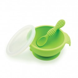 Bumkins Silicone First Feeding Set - Green