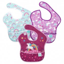 BUMKINS Super Bib 3pc Set: I Believe In Me, Unicorns, Rainbows