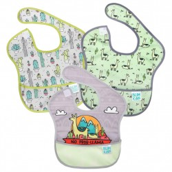 BUMKINS Super Bib 3pc Set: No Prob-Llama, Llamas, Cacti