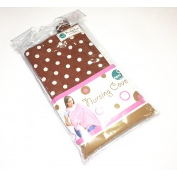 Next9 Nursing Covers - Brown Polka Dot