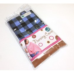 Next9 Nursing Covers - Black Check on Blue