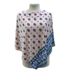 Next9 Nursing Poncho - Peach Aztec Printed