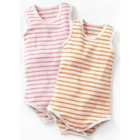 Mamaway Ribbed Sleeveless Baby Bodysuit (2-Piece)