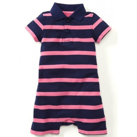 Mamaway Polo Striped Baby Bodysuit