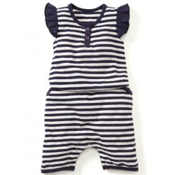 Mamaway Striped Summer Baby Romper