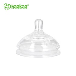 Haakaa Gen 3 Silicone Bottle Anti-Collic Nipple - Large/Variable Flow(2pcs)