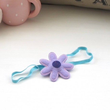 Celestina and Co. Felt Lilac Flower Hair Tie