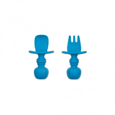 Bumkins Silicone Chewtensils - Deep Blue