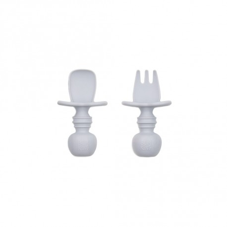 Bumkins Silicone Chewtensils - Gray