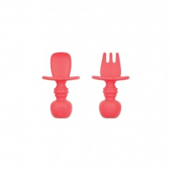 Bumkins Silicone Chewtensils - Red