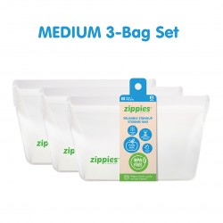 Zippies Reusable Stand Up Storage Bags - Medium
