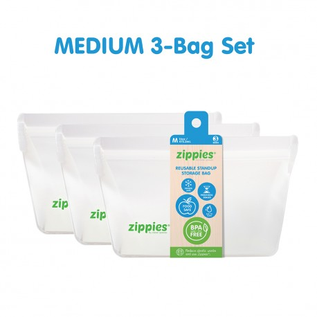 Zippies Reusable Stand Up Storage Bags - Small