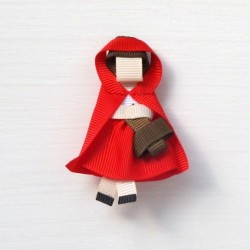 Celestina and Co. Little Red Ridinghood Sculptured Bow