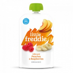 Little Freddie Vibrant Peaches & Raspberries 100g