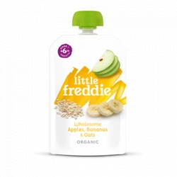Little Freddie Wholesome Apples, Bananas & Oats 100g