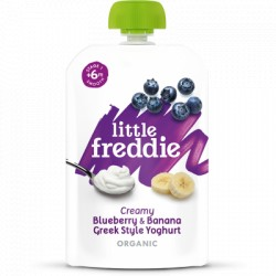 Little Freddie Creamy Blueberry & Banana Greek Style Yoghurt 100g