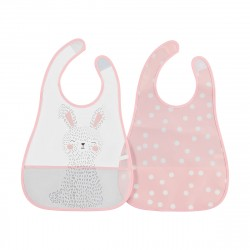 2 Pack Food Catching Bibs - Bunny