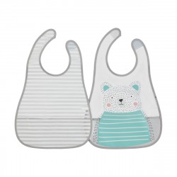 2 Pack Food Catching Bibs - Bear