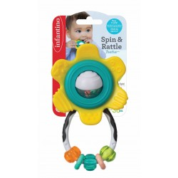 Infantino Spin & Rattle Teether - Yellow