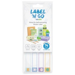 Totsafe Label 'N Go Write-on Self-laminating Stickers
