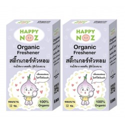 Happy Noz Organic Onion Freshener/Sticker - 2 Pack Bundle