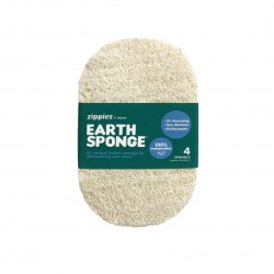 Zippies Earth Sponge Scrubber - 4 Pack