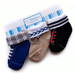 Pitcheco 3 in 1 folded socks - infant