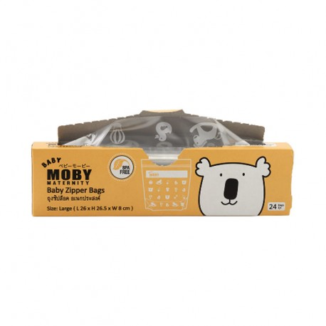 Baby Moby Large Zipper Bag - 24pcs