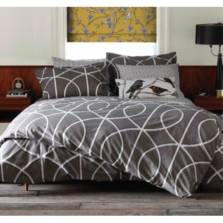 DWELLSTUDIO DUVET SET - GATE IN ASH