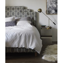 DWELLSTUDIO QUEEN DUVET SET - ELLIPSE MATELASSE IN PEARL