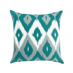 DwellStudio Decorative Pillow - Diamond Ikat in Azure