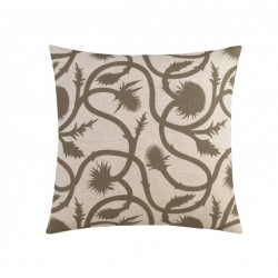 DwellStudio Decorative Pillow - Thistle Vine in Ash