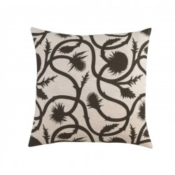 DwellStudio Decorative Pillow - Thistle Vine in Major Brown