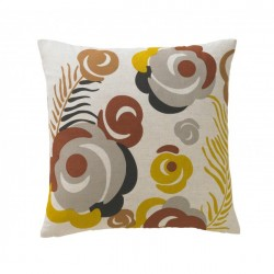 DwellStudio Decorative Pillow - Deco Floral in Bronze