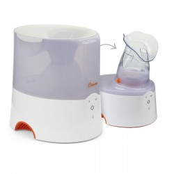 Crane 2-in-1 Warm Mist Humidifier & Personal Steam Inhaler – WHITE