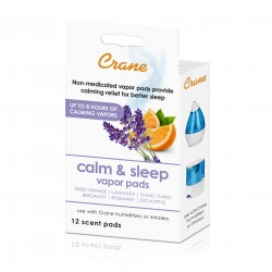 Crane Lavender Orange Universal Vapor Pads for Sleep - 12 pack