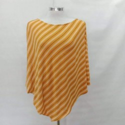 Next9 Nursing Poncho - Mustard Stripe