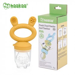 Haakaa Fresh Food Feeder and Teether - Mustard