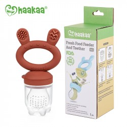 Haakaa Fresh Food Feeder and Teether - Copper