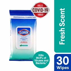 Clorox Expert Disinfecting Wipes Fresh Scent - Flow Pack 30 Wipes