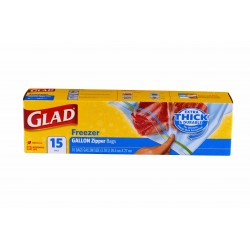 Glad Freezer Bags-Large 15s
