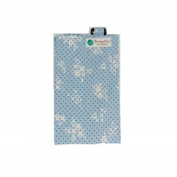 Next9 Nursing Covers - Blue with Black Polkadots