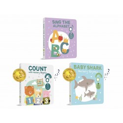 Cali's Books Special Bundle (Sing the Alphabet, Count with Nursery Rhymes and Baby Shark Nursery Rhymes)