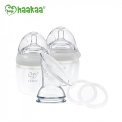 Haakaa Gen 3 Silicone Pump, Bottle and Storage Set 160ml - Grey