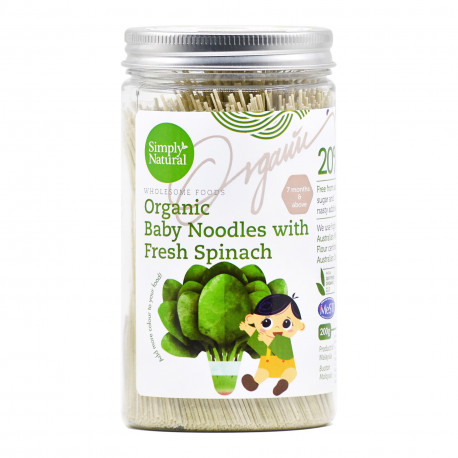 Simply Natural Certified Organic Baby Noodles with Fresh Spinach