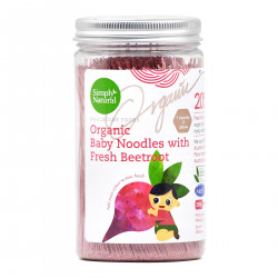 Simply Natural Certified Organic Baby Noodles with Fresh Beet Root - 200g