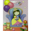 PAPER BAG SMALL - PRINCESS WITH DOLL (PACK OF 12)