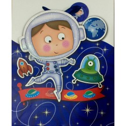 PAPER BAG SMALL - SPACE BOY (PACK OF 12)